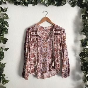 🆕Lucky Brand tribal Print Long Sleeve